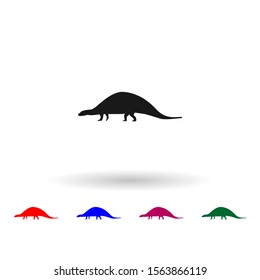 Nodosaurus multi color icon. Simple glyph, flat vector of dinosaur icons for ui and ux, website or mobile application