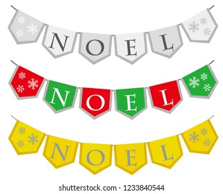 Noel garland illustrations set