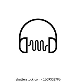 Noise Reduction outline icon. Clipart image isolated on white background