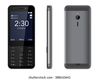 """Nokia 230 Dual SIM phone running on Series 30+, equipped with LCD Transmissive display that displays up to 65 thousand colors, with a diagonal of 2.8"""" and a camera of 2 Mpx."""