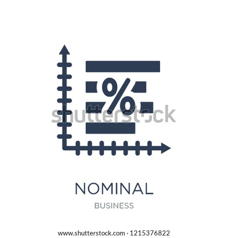 095df03a8a Nominal interest rate icon. Trendy flat vector Nominal interest rate icon  on white background from Business collection