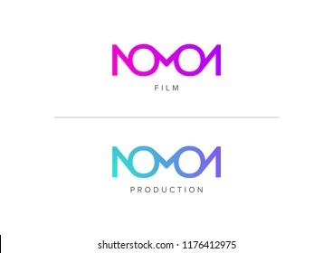 Nomon logo design, dedicated for film or production, modern gradient logo style.