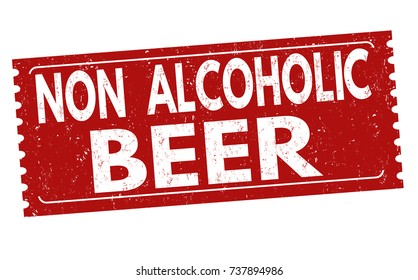 Non alcoholic beer grunge rubber stamp on white background, vector illustration