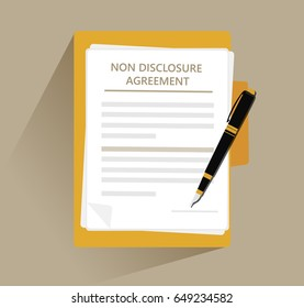 Non Disclosure Agreement document paper illustration vector