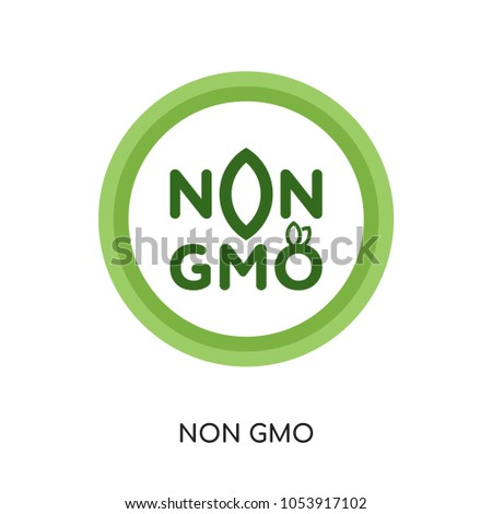 Non Gmo Logo Vector Isolated On Stock Vector 1053917102 Shutterstock