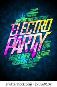 Non stop electro party design