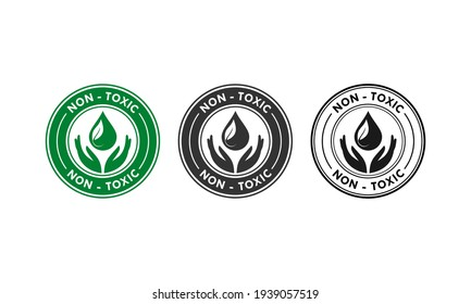 Non toxic design logo template illustration