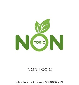 non toxic logo isolated on white background for your web and mobile app design , colorful vector icon, brand sign & symbol for your business, non toxic icon concept