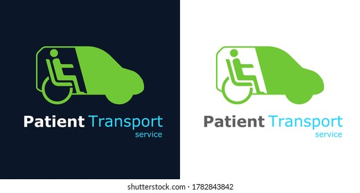 Non-emergency transportation service for patients.Logo design template element. Vector Illustration