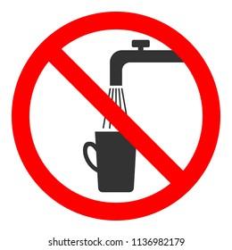 NON-POTABLE WATER sign. Vector.