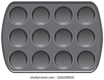 Non-stick bakeware muffin top baking pan