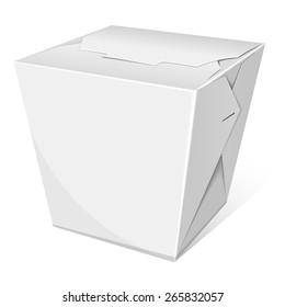 Noodle box. Take away food. Vector illustration
