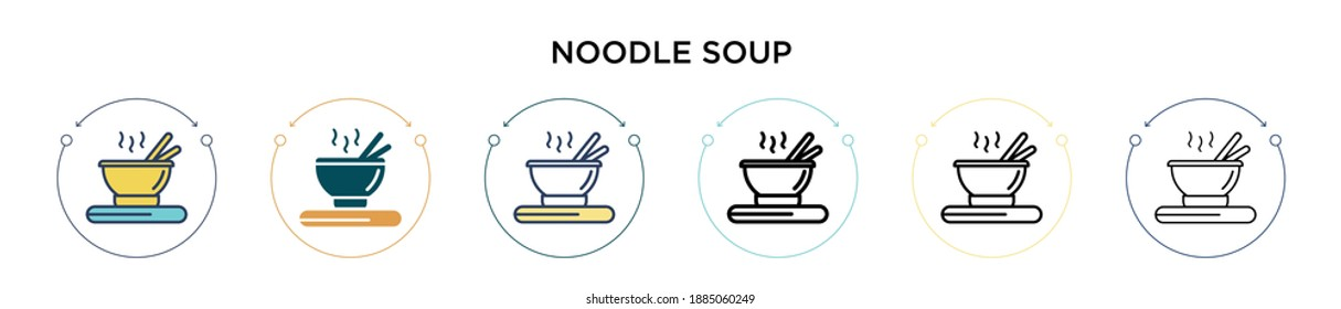 Noodle Soup Line Hd Stock Images Shutterstock