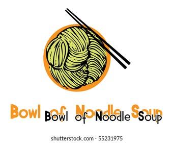 Noodle soup illustration
