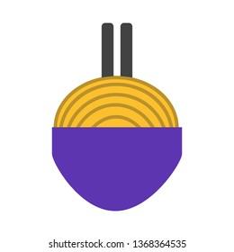 Noodles, food, delicious Flat Style Icon Vector - Vector
