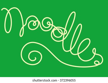 Noodles forming the word 'Noodles'
