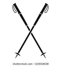 Nord walking sticks icon. Simple illustration of nord walking sticks vector icon for web design isolated on white background