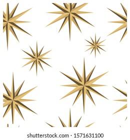 nordic Christmas stars. Scandinavian decor. Pattern