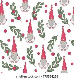 Nordic Gnomes with Mistletoe