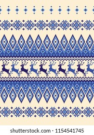 Nordic pattern illustration. I designed a traditional Nordic pattern,