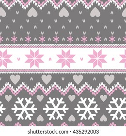 Nordic seamless christmas pattern
