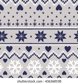 Nordic seamless knitted pattern