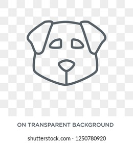 Norfolk Terrier dog icon. Trendy flat vector Norfolk Terrier dog icon on transparent background from dogs collection. High quality filled Norfolk Terrier dog symbol use for web and mobile