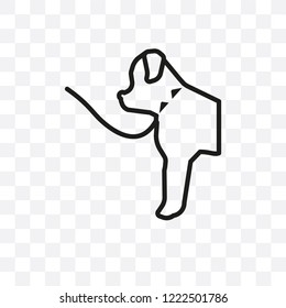 Norfolk Terrier dog vector linear icon isolated on transparent background, Norfolk Terrier dog transparency concept can be used for web and mobile