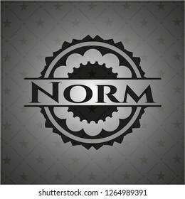 Norm black emblem. Vintage.