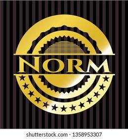 Norm gold shiny emblem