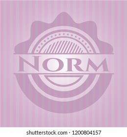 Norm pink emblem. Vintage.