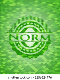 Norm realistic green mosaic emblem