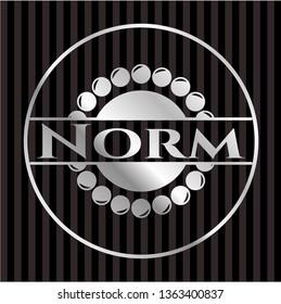 Norm silver badge or emblem