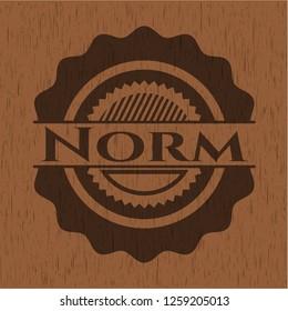 Norm wood emblem. Vintage.