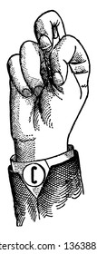 Normal Aperture Front Primary Mid Vowel positions are distinguished by always having the voice phalanx of the thumb accented and in contact with the terminal phalanx of the accented finger, vintage