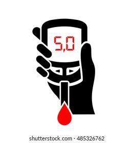 Normal blood sugar level vector illustration