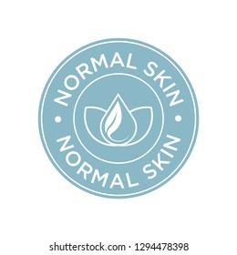 Normal skin icon. Label with skin type indicator for personal care products.