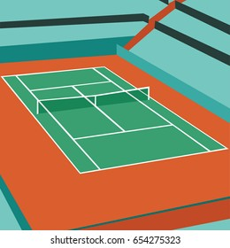 normal tennis court vector illustration