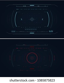 Normal vs Attack HUD infographics. Vector illustration