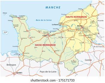 normandy road map