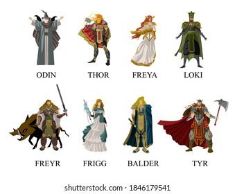 norse nordic mythology gods collection