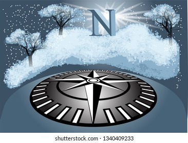 north. abstract wintry background. 10 EPS