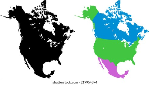 Map Us Canada Mexico Images, Stock Photos & Vectors ...