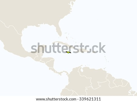 North america highlighted jamaica map vector stock vector royalty north america with highlighted jamaica map vector illustration gumiabroncs Image collections