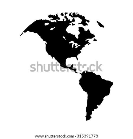 North America Map Canada Us America Stock Vector Royalty Free