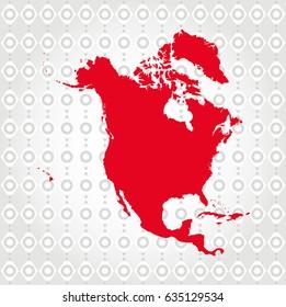 North America map in Diamond background