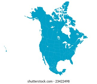 Us Canada Map Images, Stock Photos & Vectors | Shutterstock