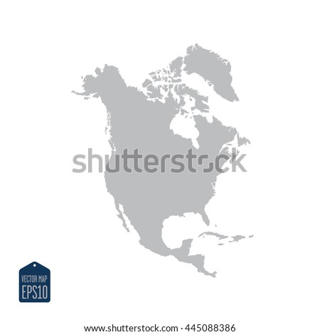 Free North America Map.North America Map Silhouette Stock Vector Royalty Free 445088386