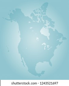 North america vector map made of turquoise high density slashes