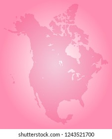 North america vector map made of magenta high density slashes